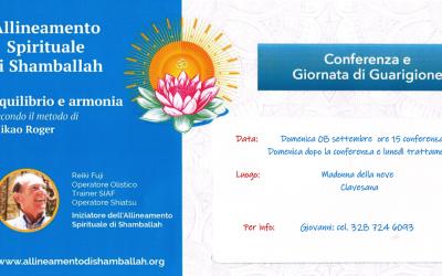 Conferenza e Giornata di Guarigione 08 Settembre – Clavesana (CN)