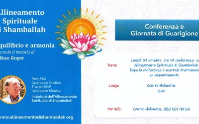 Conferenza e Giornata di Guarigione –  7 Ottobre – Bari